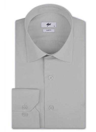 IGS Klasik Gömlek Gri